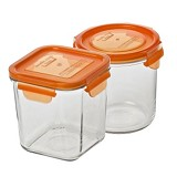 YONG MA Magic Glass Set Type 3 [YMG753CI] - Orange - Wadah Makanan
